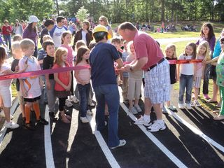 Ribbon Cutting for Track