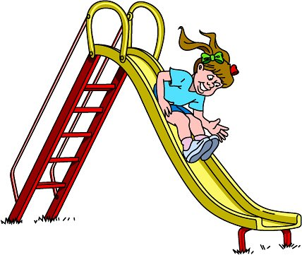 Slide-clipart-girl-slide